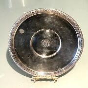 Vintage Antique Hallmarked Sterling Silver Embossed Round Plate Dish Tray Old