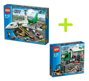 Lego Airport Terminal,jet Airplane,truck ,train, Station 60052 60050 60022 60020
