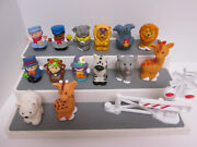 Fisher Price Little People Replacement Circus Train Animals Figures 15 Pieces