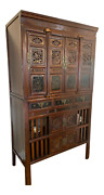 19th Century Two-part Chinese Elmwood Kitchen Cabinet, Pantry Or Cupboard