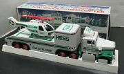 Hess Oil Company 1995 Toy Truck And Helicopter-model-vintage-lights And Rotors Nib