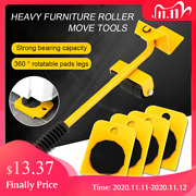 Furniture Lifter Heavy Professional Roller Move Tool Set Wheel Bar Mover Sliders