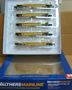 Walthers 910-55627 Ho Dttx Thrall 5-unit Rebuilt 40' Well Car 741220