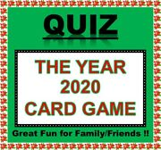And039the Year 2020and039 Pub Quiz Trivia Card Game Table Fun Families/friends/zoom