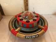 Vintage Tin Battery Operated Space Station.