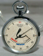 """1950's Yachting Timer Stopwatch In Case, """"select"""" By Gallet, Swiss Made, Works"""