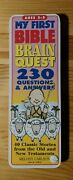 My First Bible Brain Quest 230 Questions And Answers Melody Carlson Deck Two Only