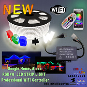 1500w Professional Real Wifi 110 - 120v Led Strip Light Rgb +w Contr Up To 330ft