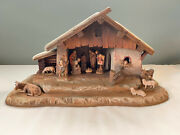 Anri 11 Piece Hand-carved Nativity In Mint Condition