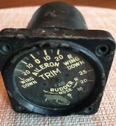 Vintage Rudder And Aileron Trim Indicator For Parts , Warbird
