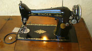 1926 Singer Sewing Machine S/n Ab103445 Tested. Table Is For Local Pick Up