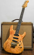 Valley Arts M Series St-type Quilt Natural Electric Guitar Made In Japan L9547