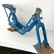 Vintage Vespa Piaggio Ciao C7e1 Frame And Fork Assembly For Parts Or Restoration