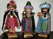 Steinbach Pravent Nutcrackers/the 3 Nativity Kings Set/handcrafted In Germany