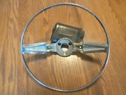 1958 Chevy Chrome Horn Ring 762469 Delray Biscayne Belair Gasser Low Rider