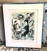 """Vintage Marc Chagall Russian-french Lithograph """"towards Another Light"""" W/coa Old"""