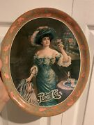 Vintage Pepsi Cola Victorian Lady Advertising Metal Plate Tray Tips Tin 5cents