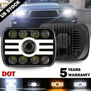 400w Osram 5x7and039and039 7x6and039and039 Led Headlight Hi-lo Beam Halo Drl For Jeep Cherokee Xj Yj