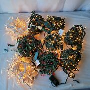 Christmas String Light Lot Of 9 Assorted Multicolor W/ Timers Holiday Decoration
