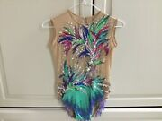 Rhythmic And Ice Skate Leotard With 3672 Crystals. New. Never Worn.