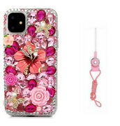 Bling Diamond Crystal Soft Tpu+ Pc Case Cover For Lg Stylo 6/5/5x/k92/iphone 12