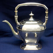 Antique Reed And Barton Sterling Coffee/teapot Kettle By Warwick 32.86 Oz Troy