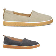 Ecco Womens Shoes Crepetray 200303 Casual Loafers Nubuck Leather