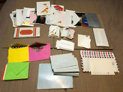 Lot Of Vintage Greeting Cards, Air Mail And Linen Paper Envelopes - All Unused
