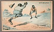 Out On A Fly 1880's Victorian Advertising Trade Card Black Baseball Aandp