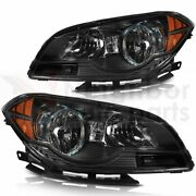 Headlights Assembly Fits 2008-2012 Chevy Malibu Headlamp Replacement Pair Set