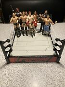 Mattel Wwe Action Figures Basic And Elite Good Condition Lot Of 8 Used W Raw Ring