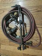 Victor Fire Power Oxygen And Acetylene Welding Kit W/ Regulators Hose And Torch
