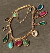 Rock Candy 12 Birthstones 18k Gold Precious And Semi P Stones Youth Bracelet Italy