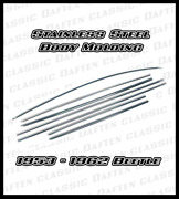 Stainless Steel Side Molding Trim For 1953 - 1962 Vw Bug Beetle 111898111s