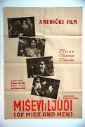 Of Mice And Men Meredith Betty Field 1939 Lon Chaney Jr.1sh Rare Exyu Movie Poster