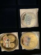 3 X Westminster Mint Coins Gold Certificates Lincoln 500 Jackson 10000 Note..