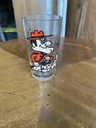 Original Vintage Dudley Do-right Pepsi Character Glass 5 1/4 Tall