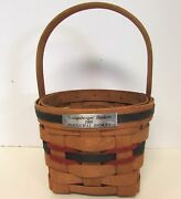 1989 Longaberger Inaugural Basket 1st In Series Dated Metal Tag Signed Dated