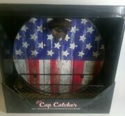 American Flag 9 3/4 Wall Mounted Beer Bottle Opener With The Cap Catcher New