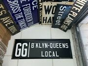 Ny Nyc Subway Roll Sign Gg Brooklyn Queens 1939 Worlds Fair Smith 9 Street Local