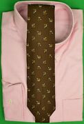 Brooks Brothers Challis Fox Mask Brown Tie Made In England