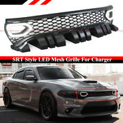 For 15-2021 Charger Rt Scat Pack Srt Style Switch Back Led Air Duct Grille Grill