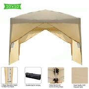 10' X 10' Easy Pop Up Gazebo Canopy Party Tent With Sidewalls Carry Bag Patio