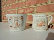 Antique 19th C W And Co Hanley Nursery Rhyme Transferware Creamer And Waste Bowl