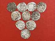 Crusader Templar Starter Collection 10 Silver Coins 1200and039s 700 Years Old
