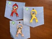 Charming Tails Lot Of 3 Lapel Pin Mouse 🐭 Dean Griff Ribbons 🎀