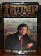 President Trump The Art Of The Deal 1987 Hb/dj 1st Edition 2nd Print Signed