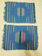 Pair Navajo Gallup Throw Rugs Authentic Tapestry Native American Indian 13x18