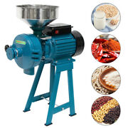 3000w Electric Dry Wet Grain Grinder Mill Corn Cereals Rice Coffee Wheat +funnel