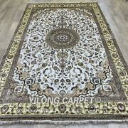 Yilong 6and039x9and039 Handmade Silk Rug Easy To Clean Traditional Indoor Carpet 1010c